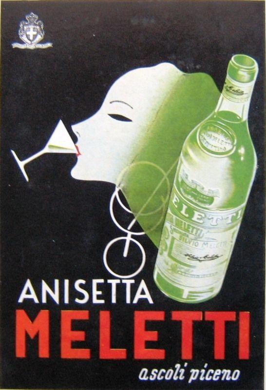 Mingozzi-ANISETTA MELETTI-Liquore-Anno 1939