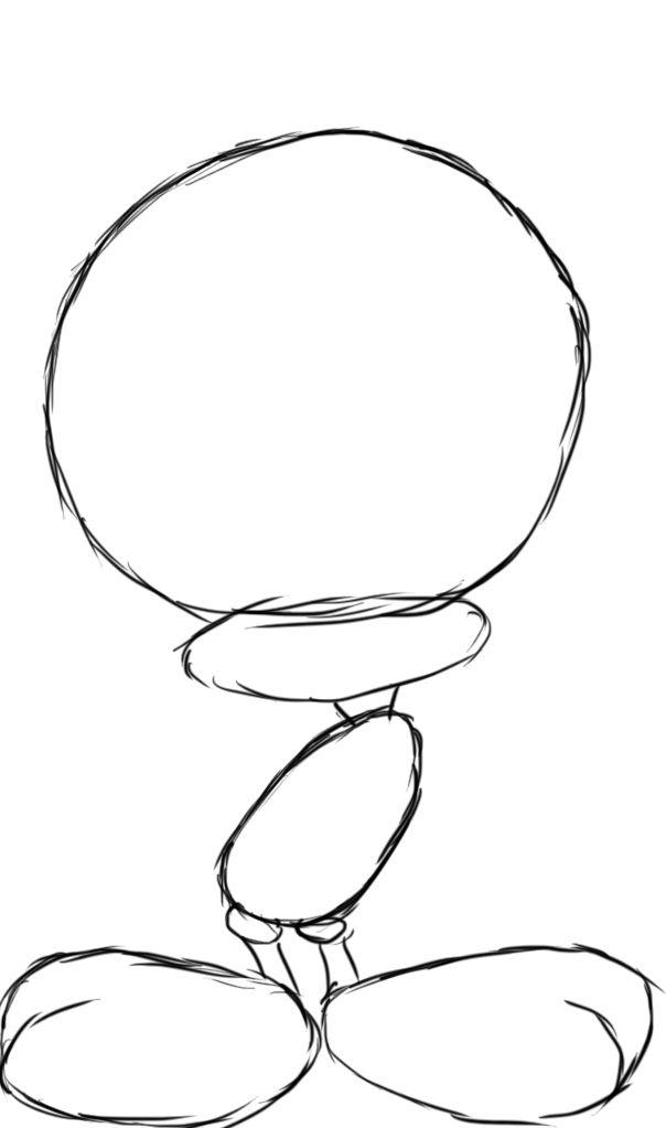how to draw a bird legs