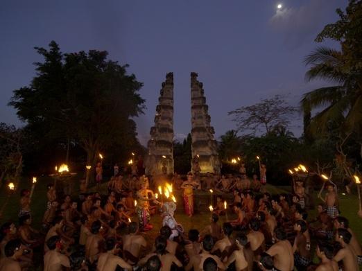 5. Kecak Dance at the open air amphiteather Chedi Club, Tanah Gajah, Ubud. Photo courtesy of Chedi Club