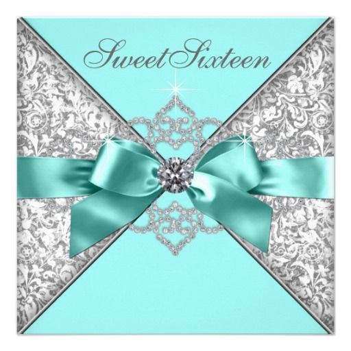 White Diamonds Teal Blue Sweet 16 Birthday Party Invites We have the best promotion for you and if you are interested in the related item or need more information reviews from the x customer who are own of them before please follow the link to see fully reviewsThis Deals          Whi...