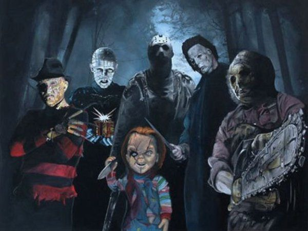 Image Result For Horror Movie Villains 90s Group Halloween