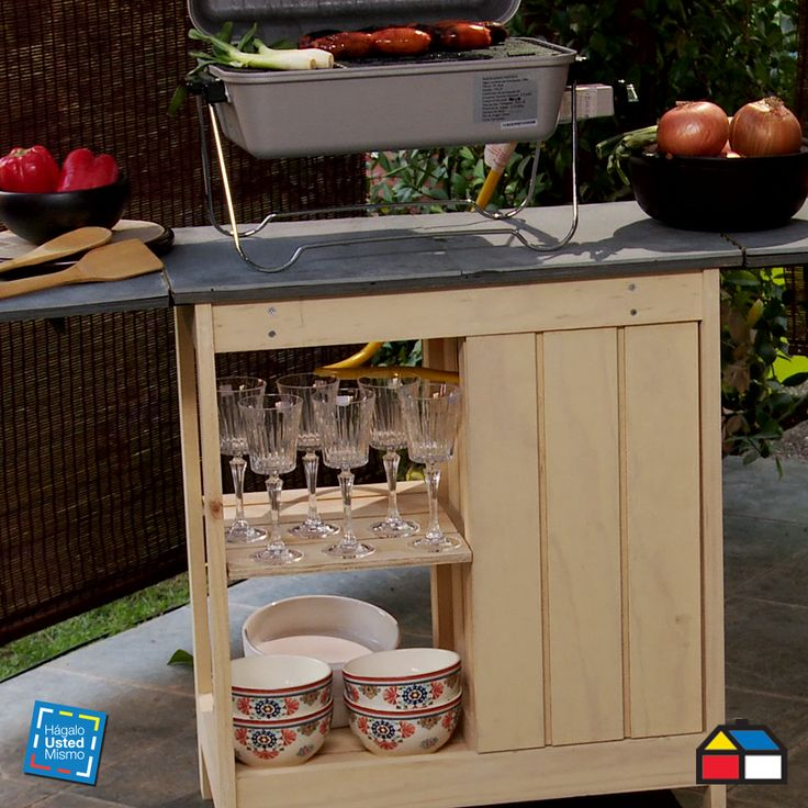 ¿Cómo construir un centro de cocina exterior? #Muebles #Cocina