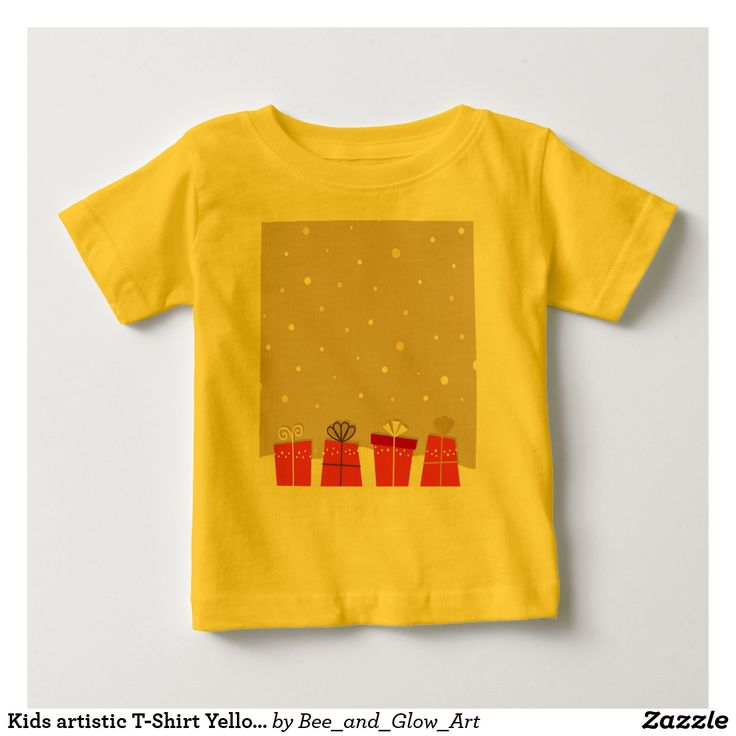 Kids artistic T-Shirt Yellow with Gifts