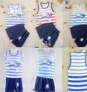 Wholesale Boy Tank Tops Suit Sportswear Summer Tank Tops Activewear Shorts Children Set Kids Suit Outfits, Free shipping, $4.35-6.65/Piece | DHgate