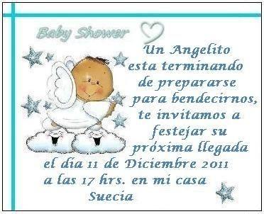 Invitación a Baby Shower Angelito