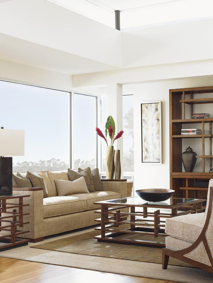 Modern Living Room Dominated By Neutral Colors: An Incredibly Eye-catching Centerpiece For Your Modern