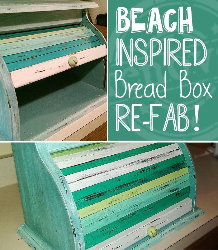 Beach Style Bread Box Make-Over