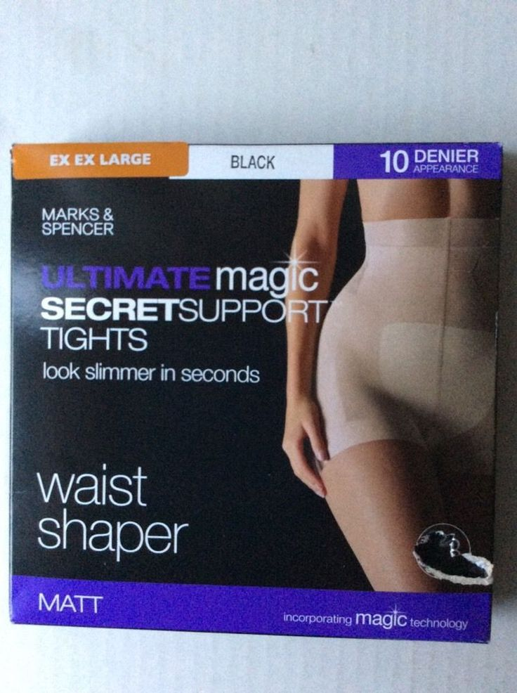 M&S ULTIMATE MAGIC SECRETSUPPORT Tights WAIST SHAPER XXL 10 Den BNIB Shaping
