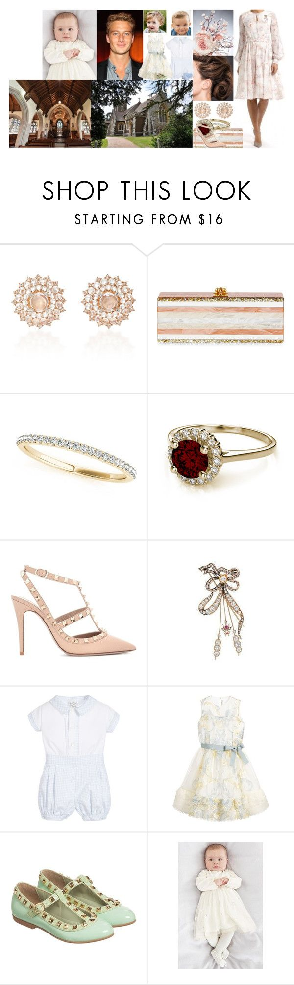 """""""Anne, Daniel, katharina and Konstantin Winter at the christening of their niece and cousin, Princess Frances of Clarence"""" by charlottedebora ❤ liked on Polyvore featuring Rachel Trevor-Morgan, Beulah, Nam Cho, Edie Parker, Allurez, Valentino, GALA, Fendi and step2wo"""