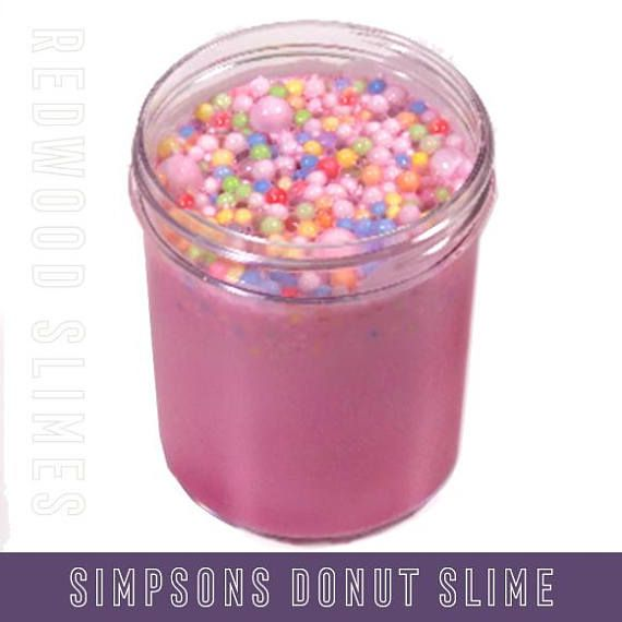 This is a crunchy floam slime with a variety of rainbow colored foam beads. This fun scented pink floam recipe smells exactly like Simpsons donut! It comes in 6oz or 8oz. Whether you are looking for the perfect cheap Christmas stocking stuffer or a cool birthday gift for kids, this is