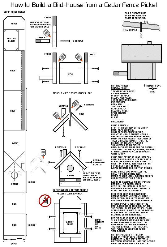 Birdhouse design blue print