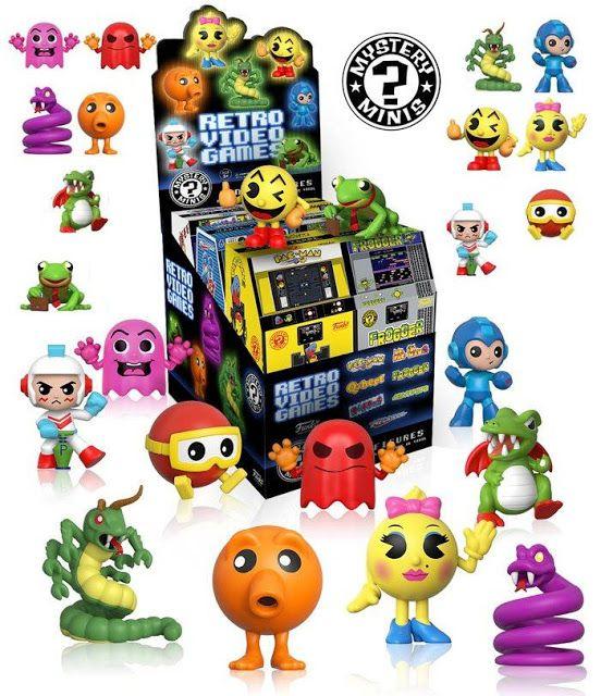 Retro Games Series 1 Mystery Minis   Faça um passeio pela nostalgia lane jogadores!Com base em seus videogames retros favoritos esses mini-figurinos caracterizam a estilização do Funko e cada um vem embalado em uma caixa cega estilizada como um sistema arcade retro!A série 1 inclui favoritos comoPac-ManMegamanQbertFrogger Ms. Pac-ManCentipedeeDigdug.Cada figura de vinil estilizado mede 2 1/2-polegadas de altura e vem embalada em caixas cegas.Retro Games Series 1 Mystery Minis inclui 4…