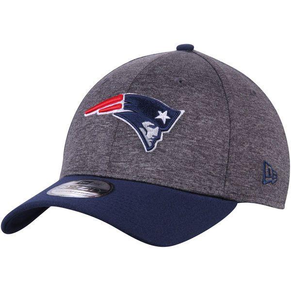 Men's New England Patriots New Era Heathered Gray/Navy Shadow Tech 39THIRTY Flex Hat