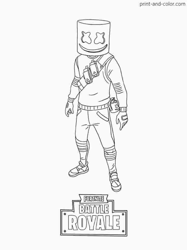 Fortnite Season X Coloring Pages Dibujos De Marshmello