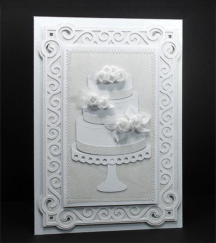 Свадебная открытка торт, днем