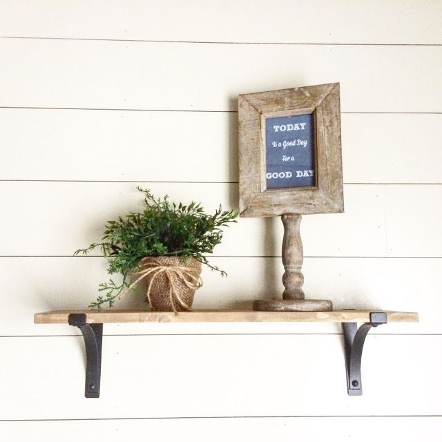 Beautiful And Simple Rustic Wood Shelves With Black Metal Brackets, Jillify  It On