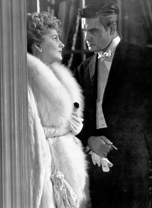 """Joan Fontaine & Louis Jourdan in """"Letter from an unknown woman"""" LOVE this film! Sad but so beautiful!!!"""