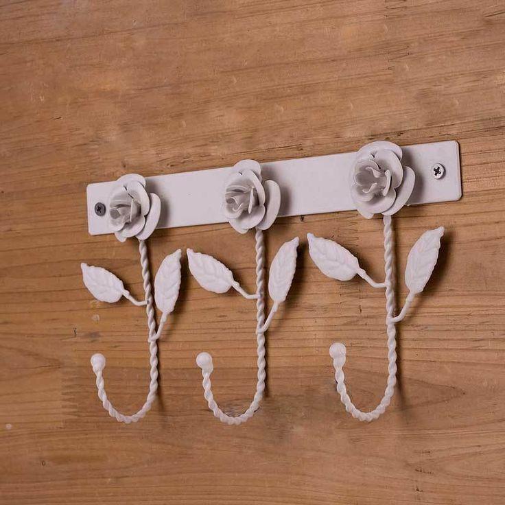 zachte tijd tieyi witte roos ijzeren haak kapstok kapstok