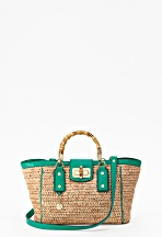 fashion/swimsuit special - And to go with your cute suit ... a cute bag!  Milly, Crocheted Straw Tote, $350