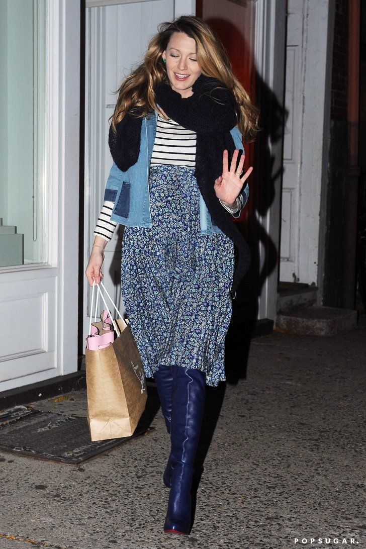 Pin for Later: Pregnant Blake Lively Treats Her Feet to a Pair of Louboutins