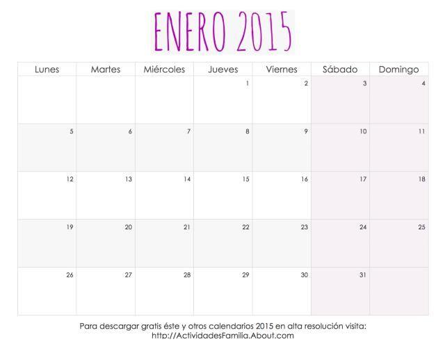 calendario 2015 y 2018 para imprimir