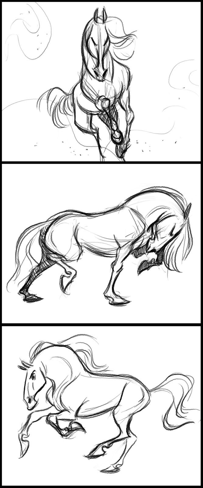 I think I'm going to start posting some of my warm up   drawings on my blog. They will most likely be horses   since they are the most ...