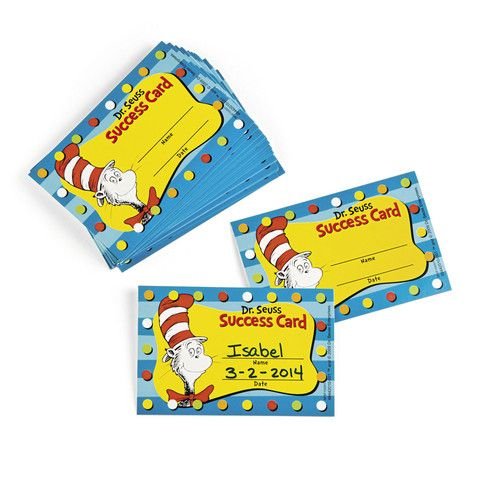 Dr Seuss Motivational Success Cards, 36 Pack