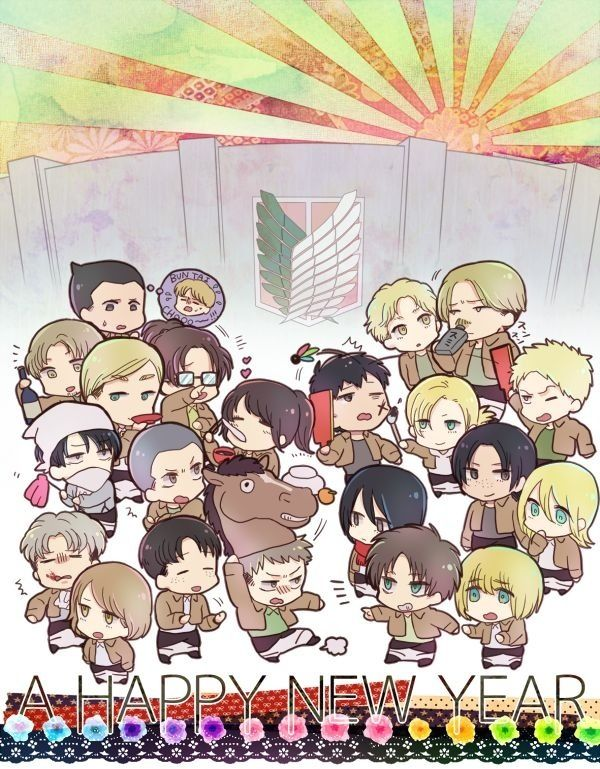 Attack on Titans Happy New Year
