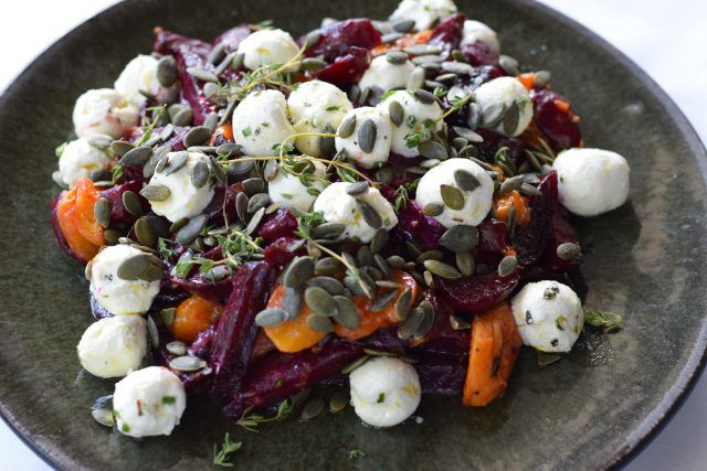 Roasted beetroot and apricot w labneh B