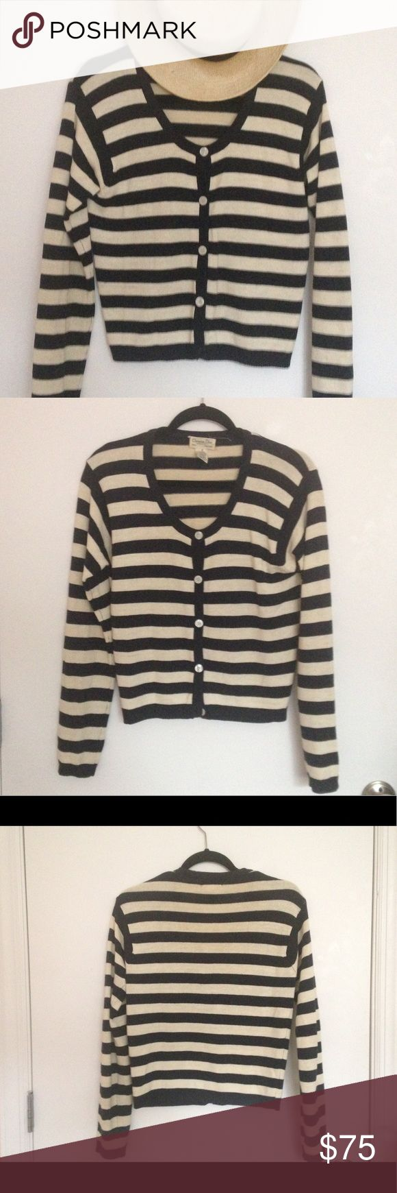 Christian Dior Striped Cardigan Vintage Dior cardigan with nautical stripes. Very good vintage condition. Christian Dior Sweaters Cardigans