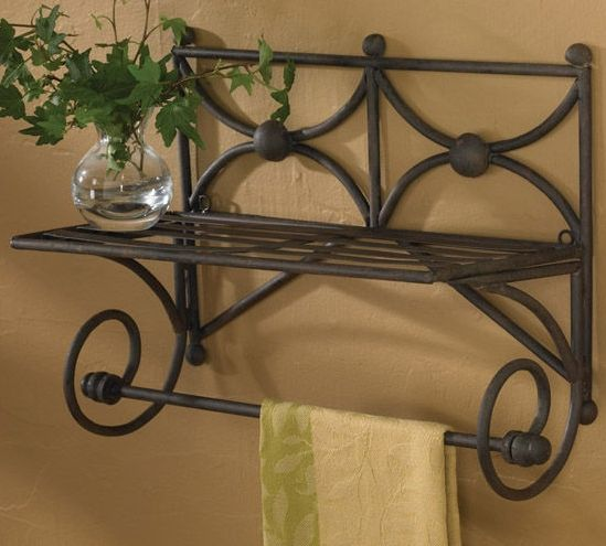 Chelsea shelf with towel bar decorating bed bath - Decorative towel bars for bathrooms ...