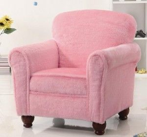 Kids Overstuffed Chairs | Kids Accent Chair With Rolled Arms In Pink Fabric  Discount. Click