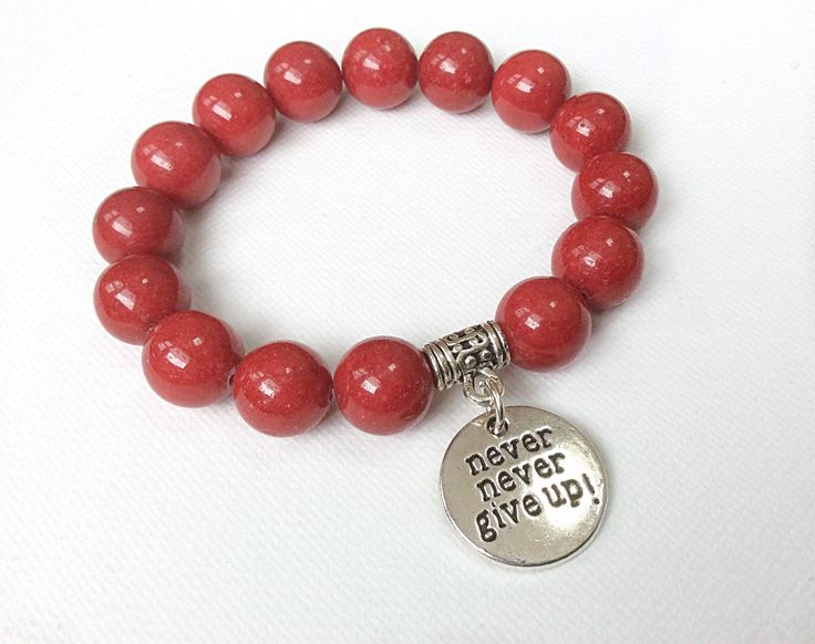 Never Give Up bracelet, Blood Cancer Awareness, Leukemia and Lymphoma Society Fundraiser by ButterflyWarriors on Etsy