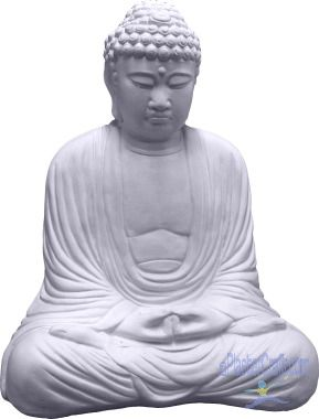 large buddha plaster statue
