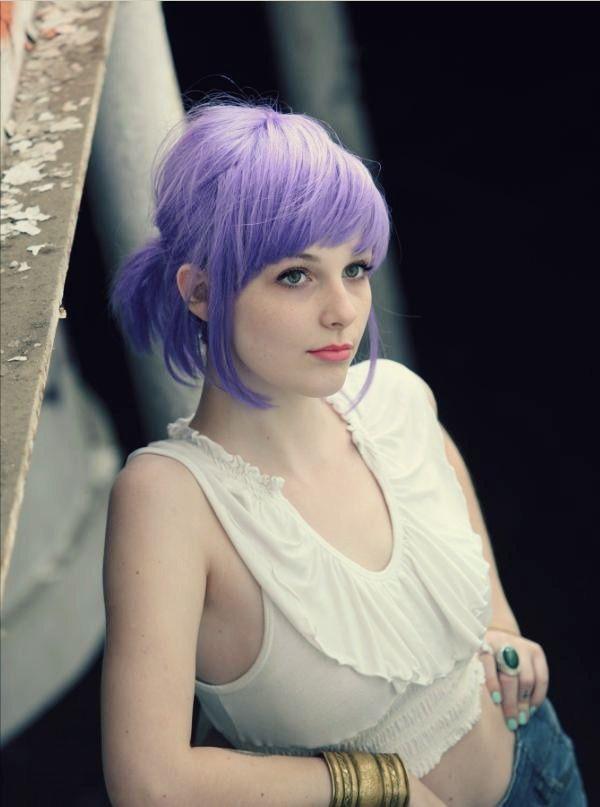 lavender #hair #hairstyle #colour #bangs