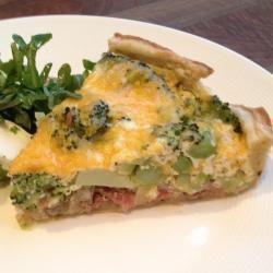 Quiche met broccoli en spekjes @ allrecipes.nl