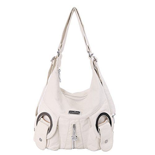 New Trending Backpacks: Angelkiss 2 Top Zippers Multi Pockets Handbags Washed Leather Purses Shoulder Bags Backpack W6802 (white). Angelkiss 2 Top Zippers Multi Pockets Handbags Washed Leather Purses Shoulder Bags Backpack W6802 (white)  Special Offer: $31.30  122 Reviews Size: Big size Gender: Female Applicable objects: senior student,university student,young lady Applicable scene: Leisure,shopping,school...