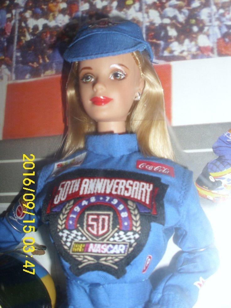 "Mattel Barbie ""nascar Barbie"" 50th Anniversary Issue Blonde Western Auto Nrfb"
