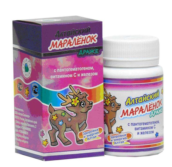 «Алтайский мараленок» № 2 с пантогематогеном, витамином С и железом.