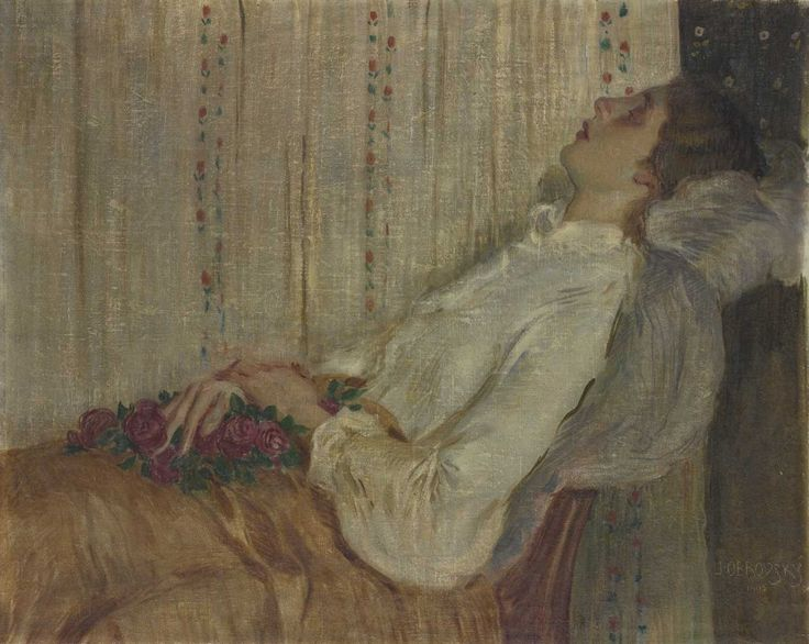 Jakub Obrovský, Rekonvalescentka (Spící žena s květinami), 1905