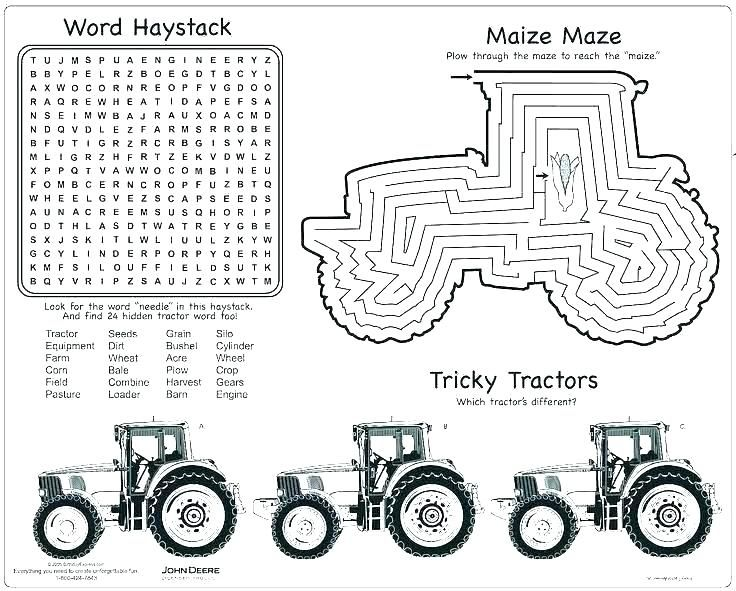 Farm Coloring Sheet Corn Google Search With Images Tractor