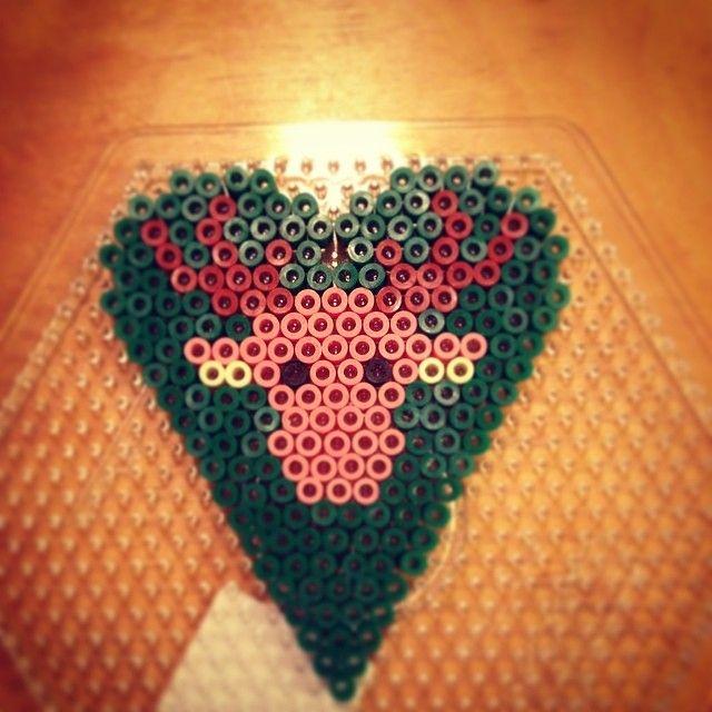 Heart deer hama perler by swedishsuperninja