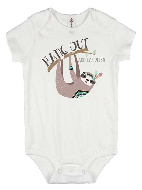 Hang Out and Nap Often Onesie®, Cute baby clothes, Baby Shower Gift, Special Baby Gift, Funny Baby shirt, Funny Onesies, Sloth baby shirt
