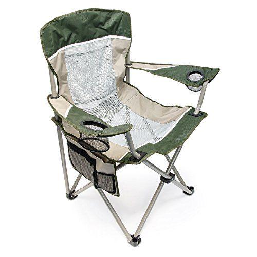 Relaxdays 10018250 - Silla para camping, soporte para vasos, 4 bolsillos, bolsa para llevar