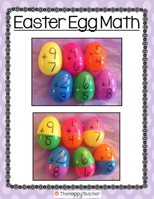 Ideas for using plastic Easter eggs and FREE student printable!