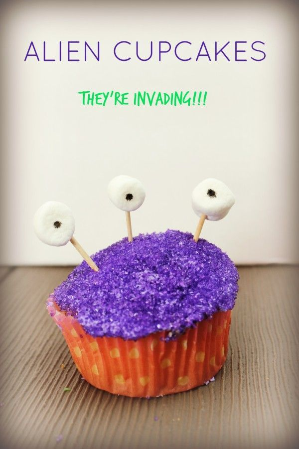 Instructions on how to make Alien Cupcakes