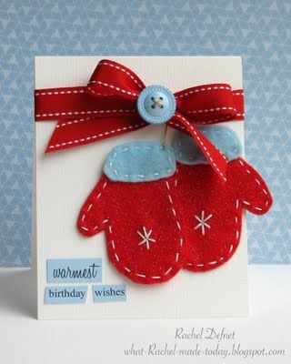 Love this idea for homemade Christmas or winter birthday cards!