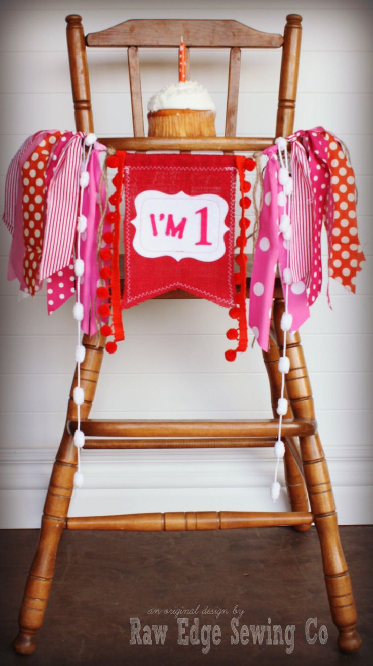 Elmo folding chair - Elmo Girl Inspired Birthday Age High Chair Highchair Birthday Banner Party Photo Prop