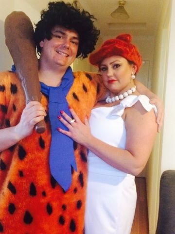Fred and Wilma Costumes for hire.