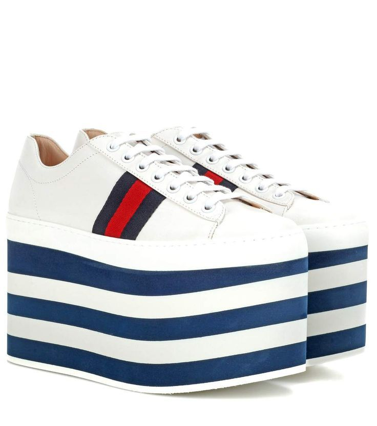 GUCCI Leather platform sneakers. #gucci